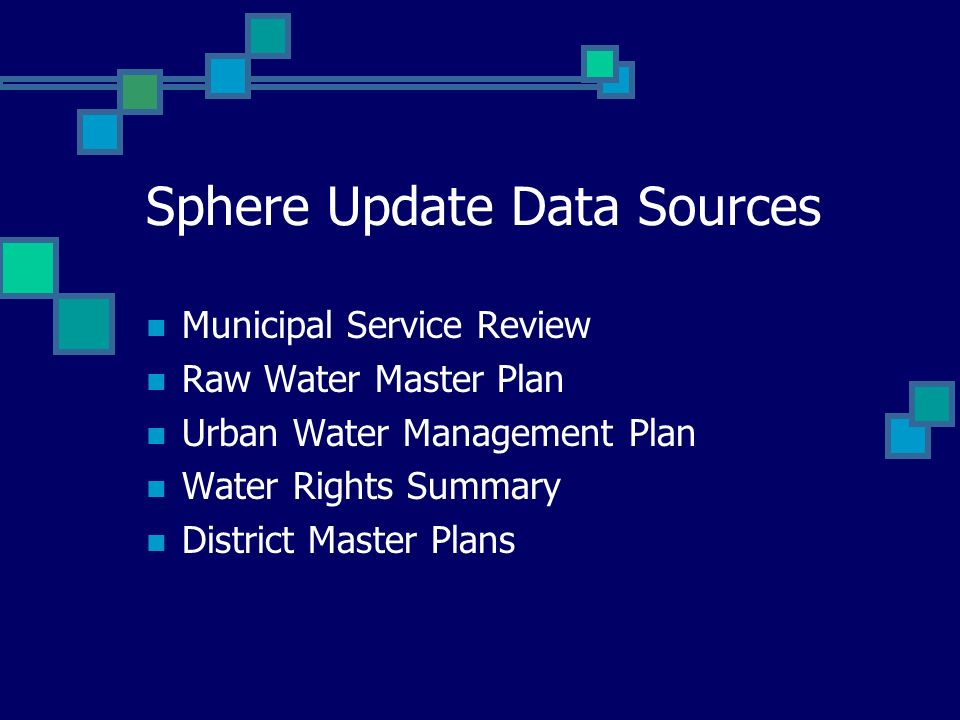 Sphere Update Data Sources