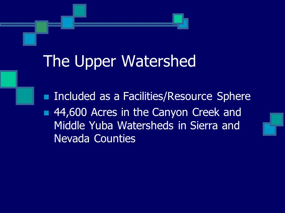 The Upper Watershed Included as a Facilities/Resource Sphere