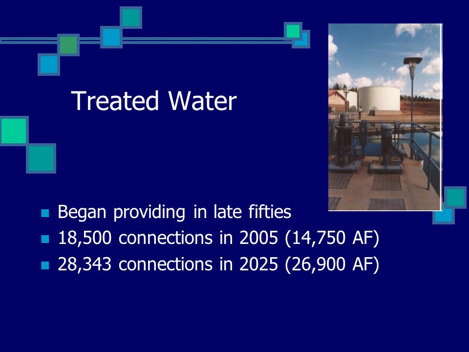 Treated Water Began providing in late fifties