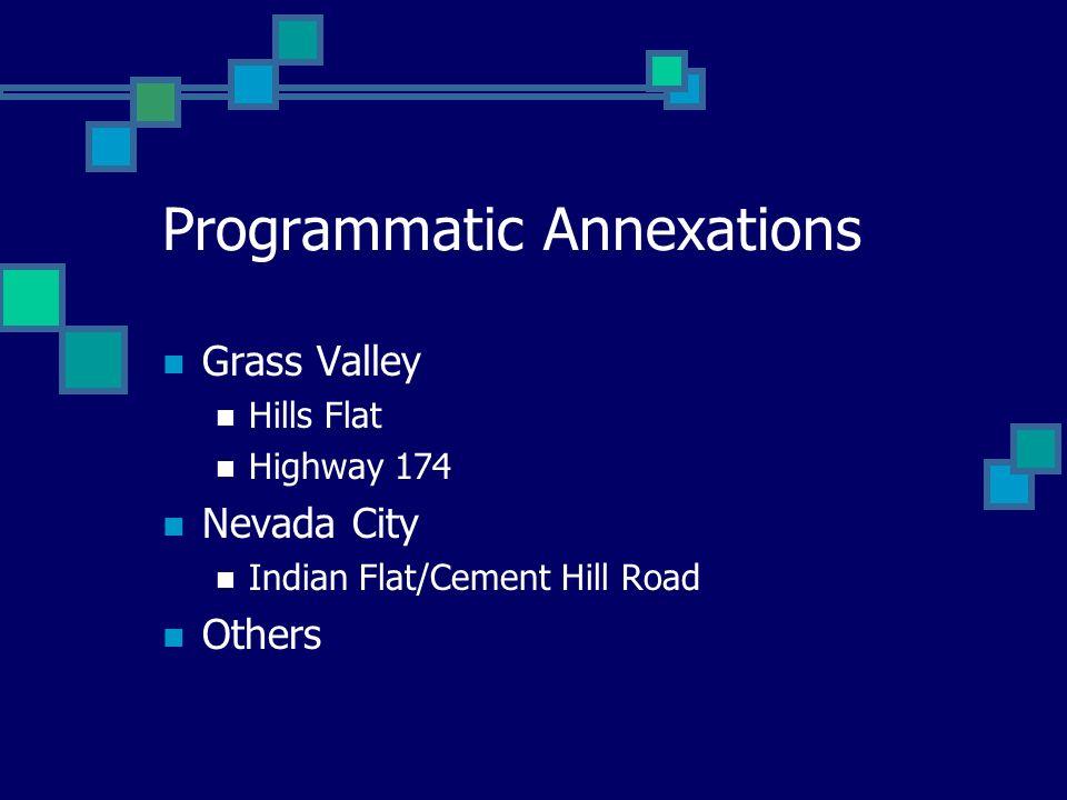 Programmatic Annexations