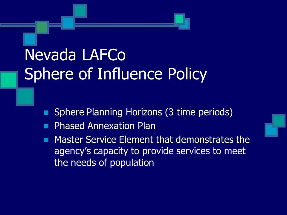 Nevada LAFCo Sphere of Influence Policy