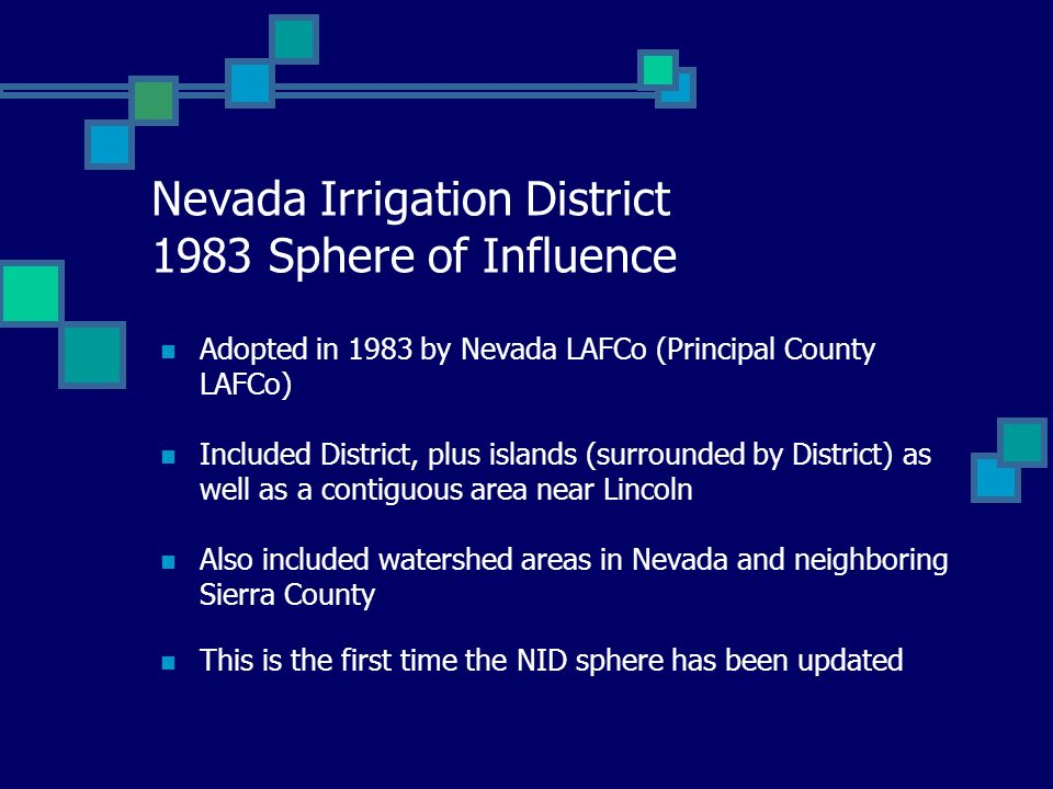 Nevada Irrigation District 1983 Sphere of Influence