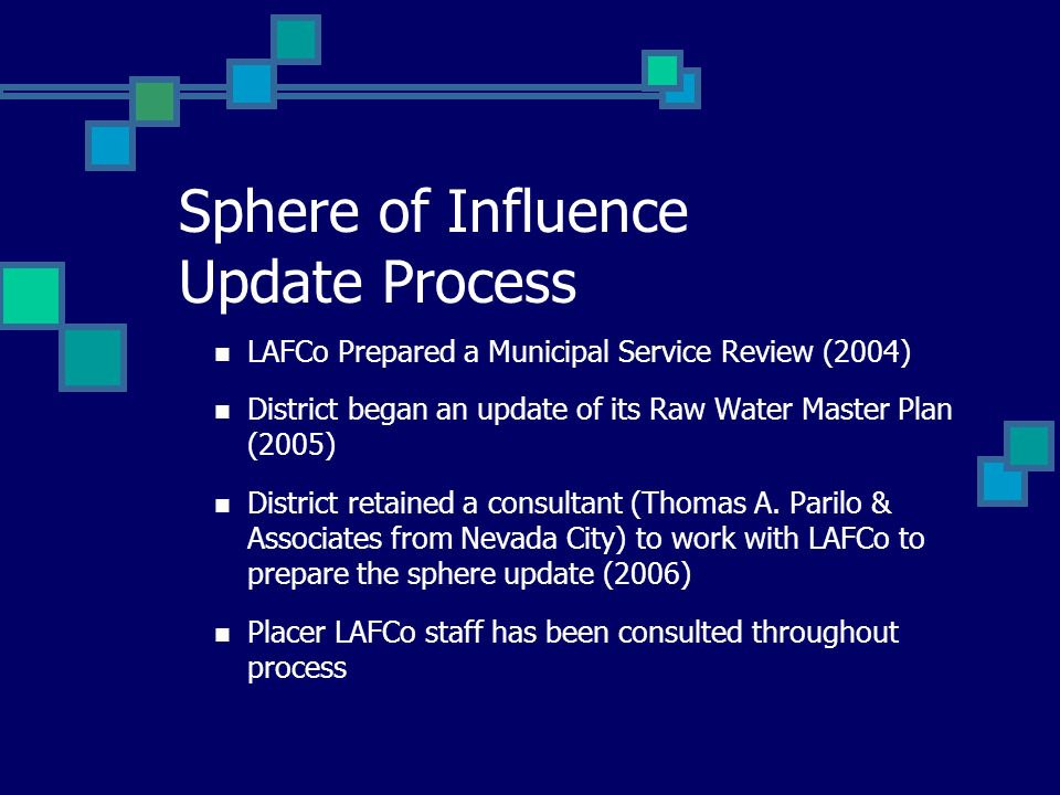 Sphere of Influence Update Process