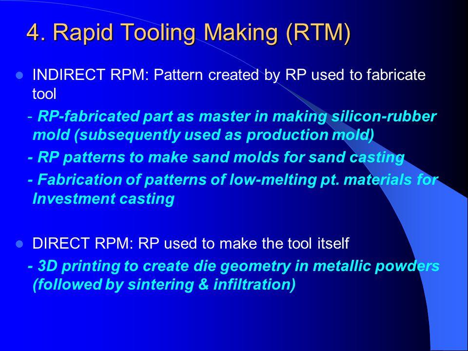 4. Rapid Tooling Making (RTM)