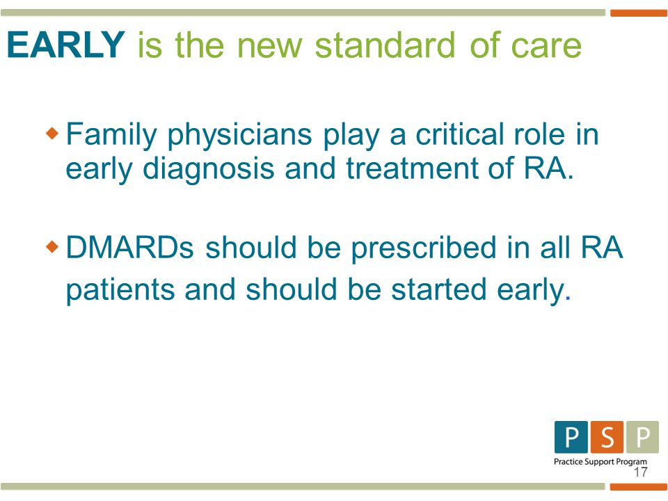 EARLY is the new standard of care
