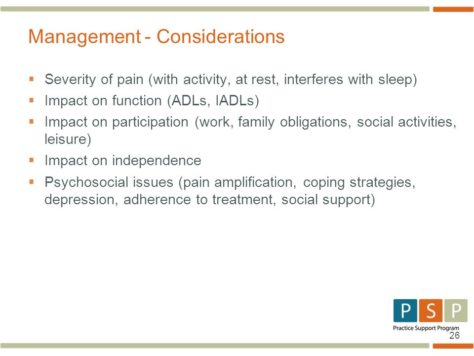 Management - Considerations