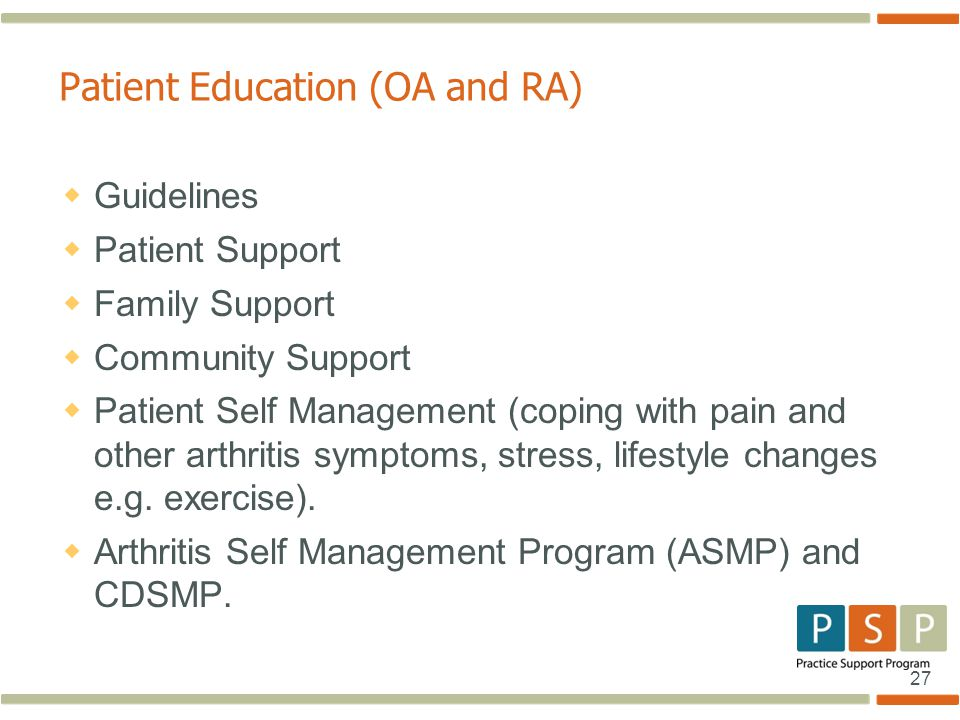 Patient Education (OA and RA)