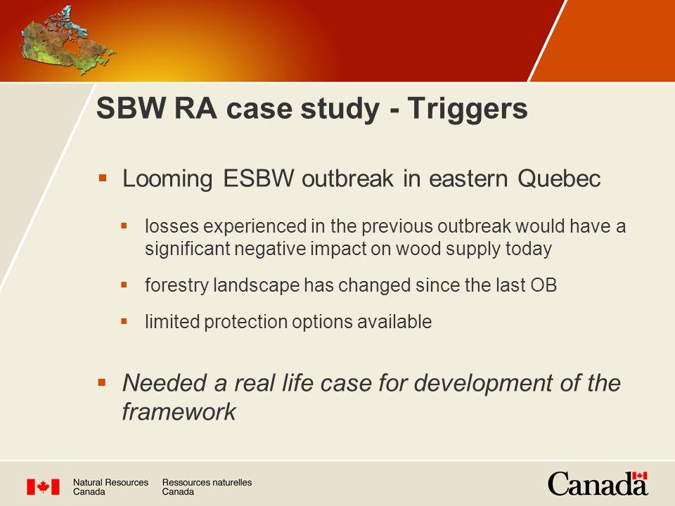 SBW RA case study - Triggers