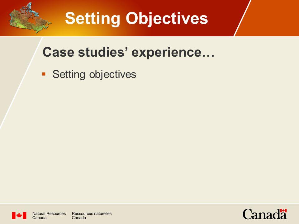 Case studies' experience…