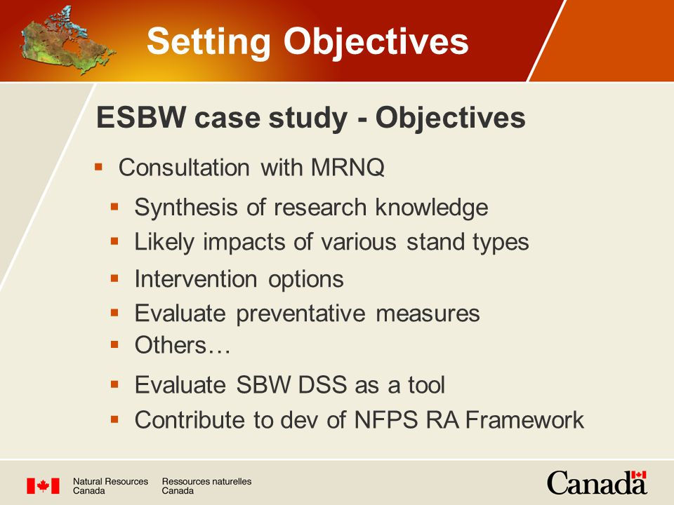 ESBW case study - Objectives
