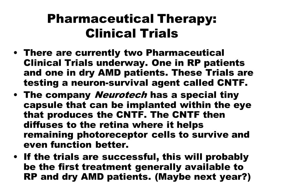 Pharmaceutical Therapy: Clinical Trials