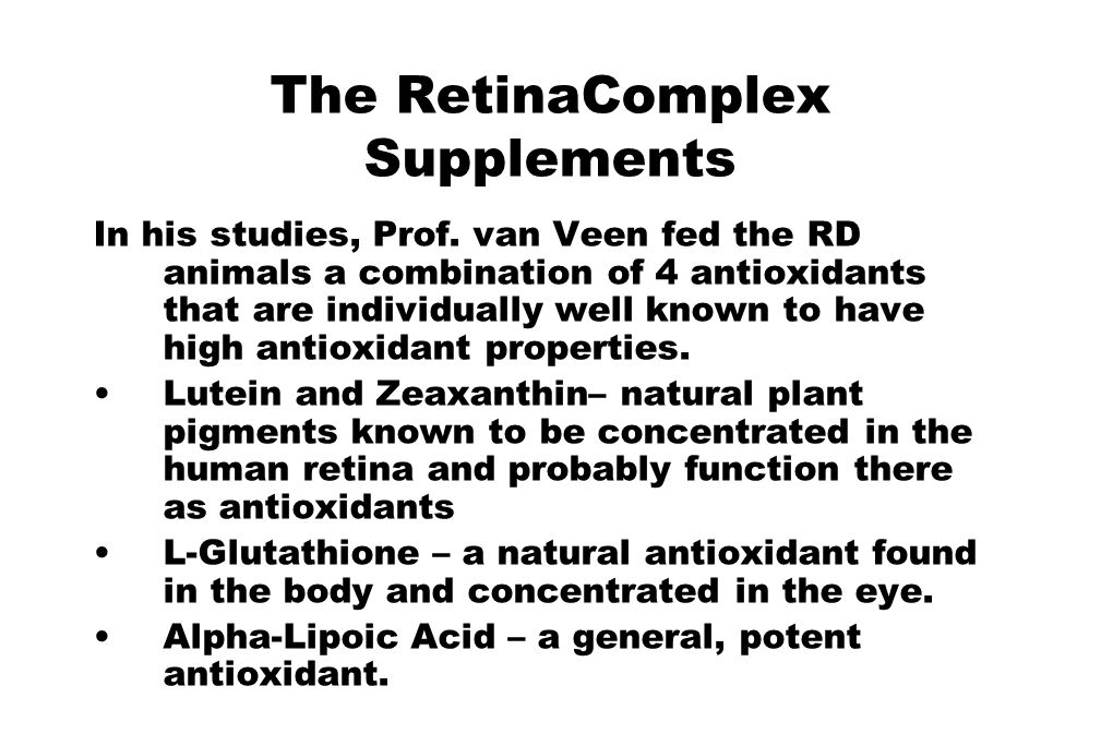 The RetinaComplex Supplements