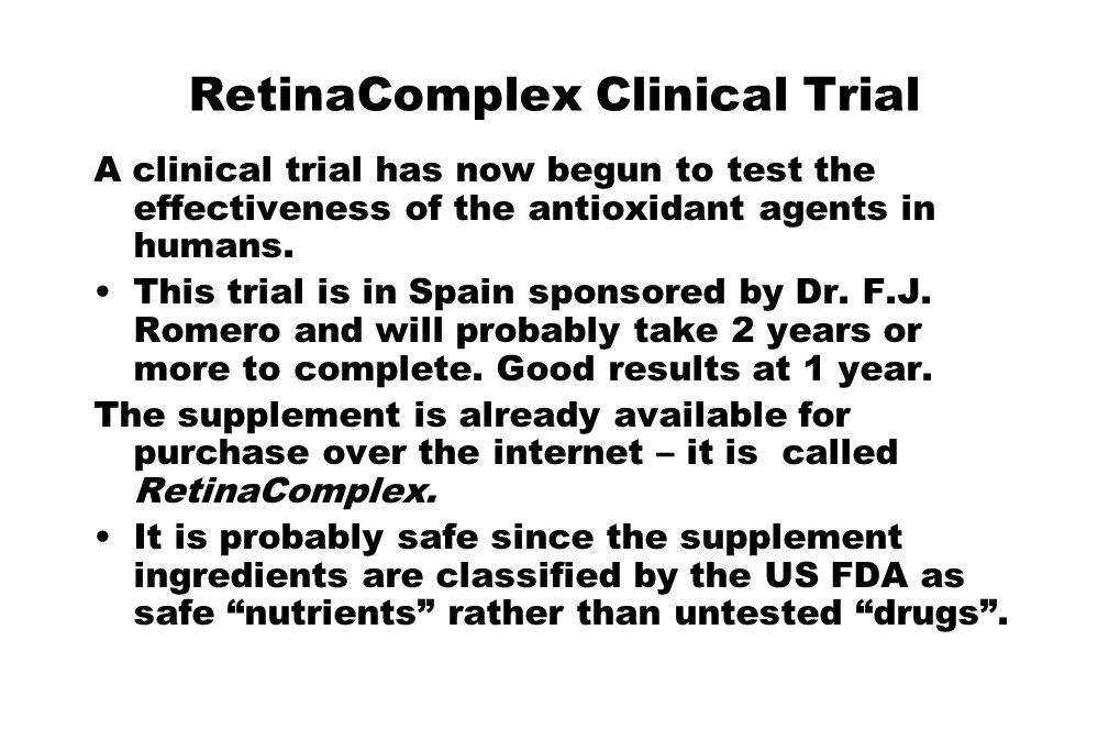 RetinaComplex Clinical Trial