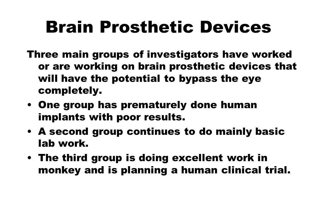Brain Prosthetic Devices