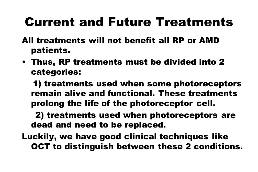Current and Future Treatments