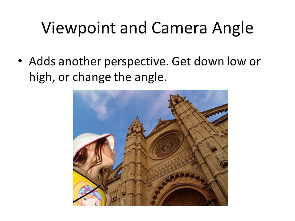 Viewpoint and Camera Angle