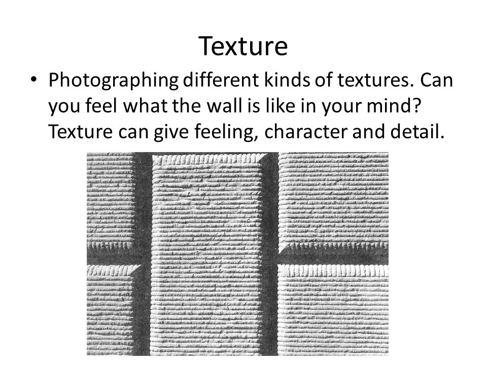 Texture Photographing different kinds of textures.