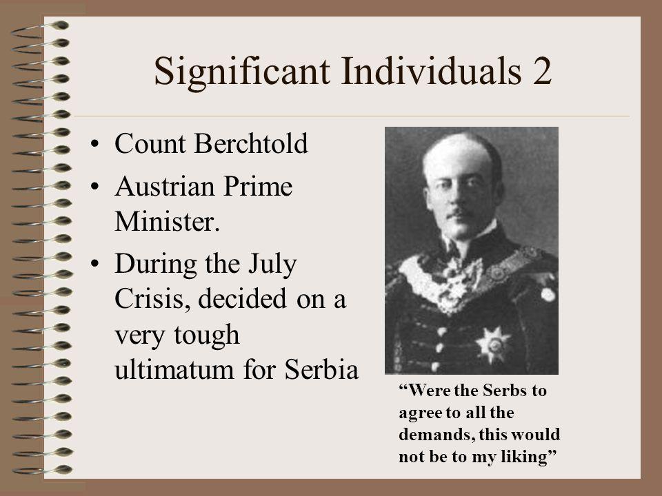 Significant Individuals 2