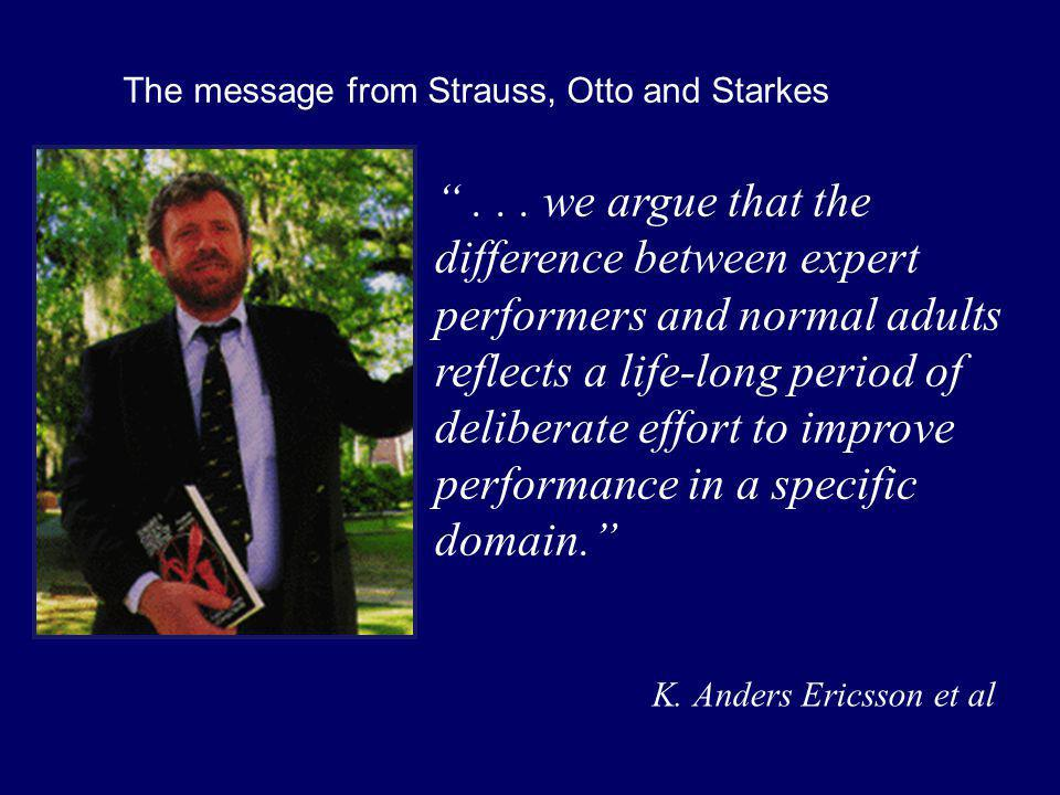 The message from Strauss, Otto and Starkes