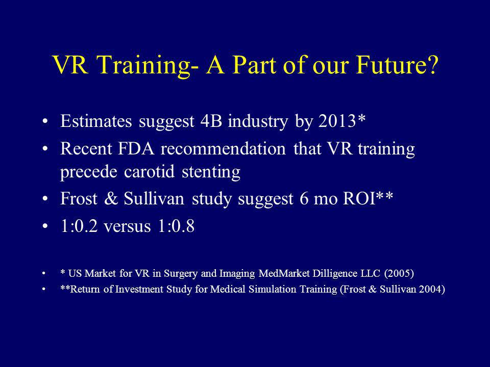 VR Training- A Part of our Future