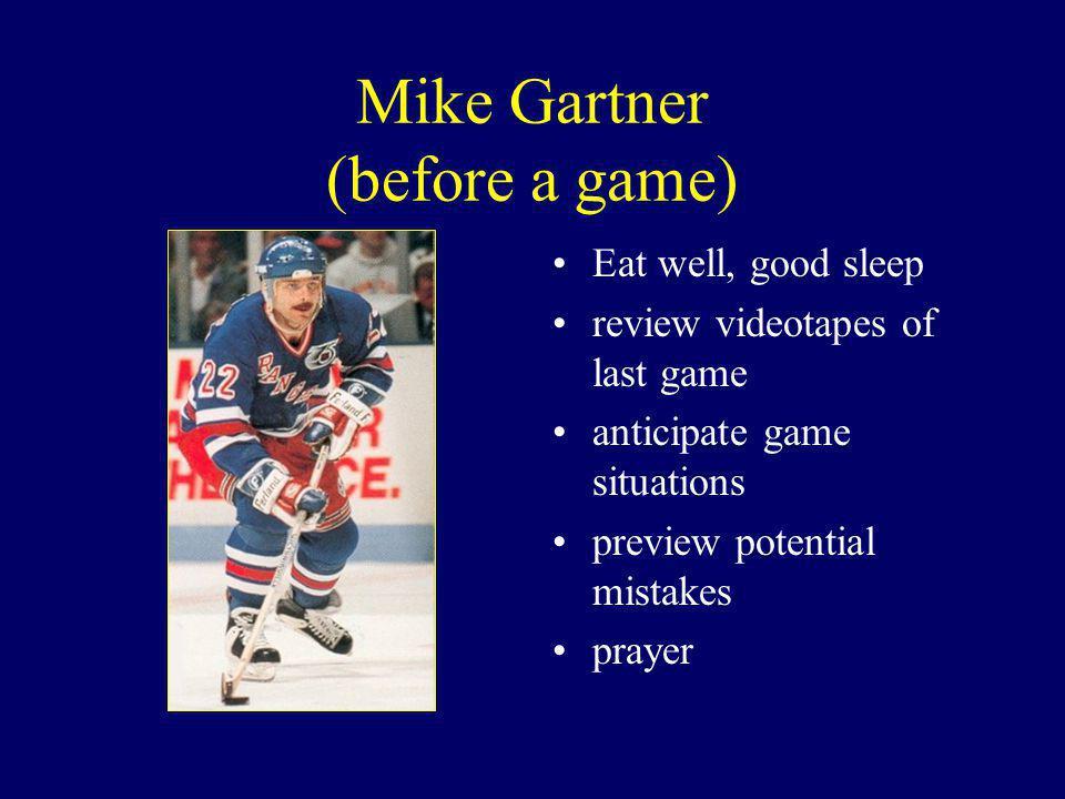 Mike Gartner (before a game)