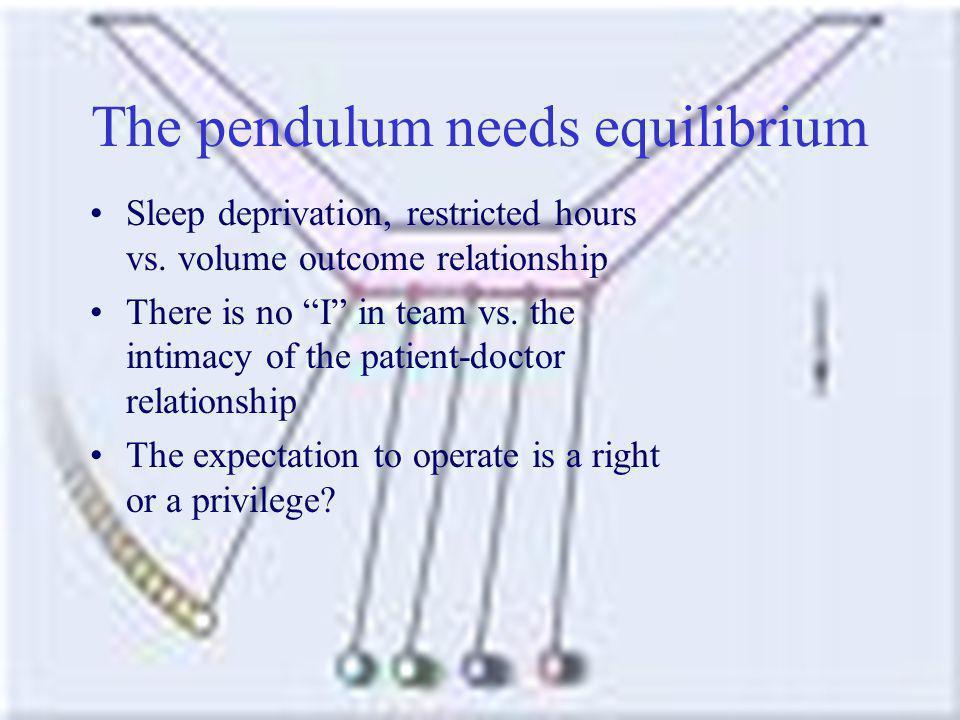 The pendulum needs equilibrium