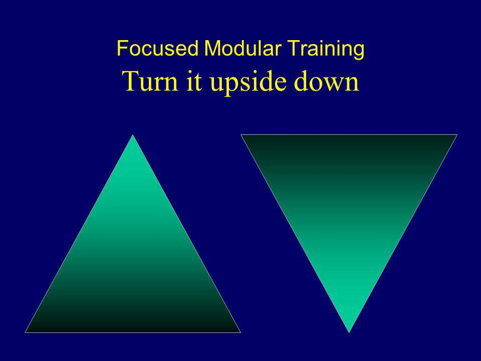 Focused Modular Training Turn it upside down