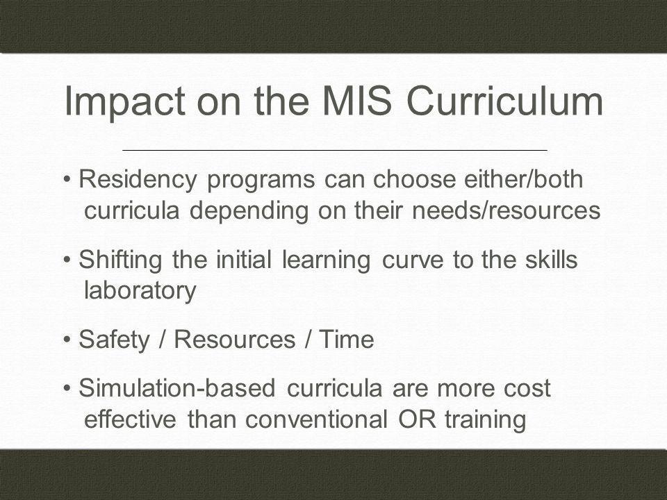 Impact on the MIS Curriculum