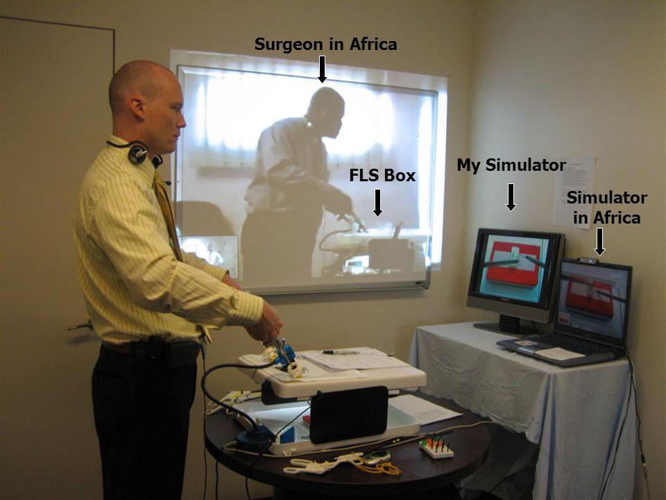 Surgeon in Africa My Simulator FLS Box Simulator in Africa