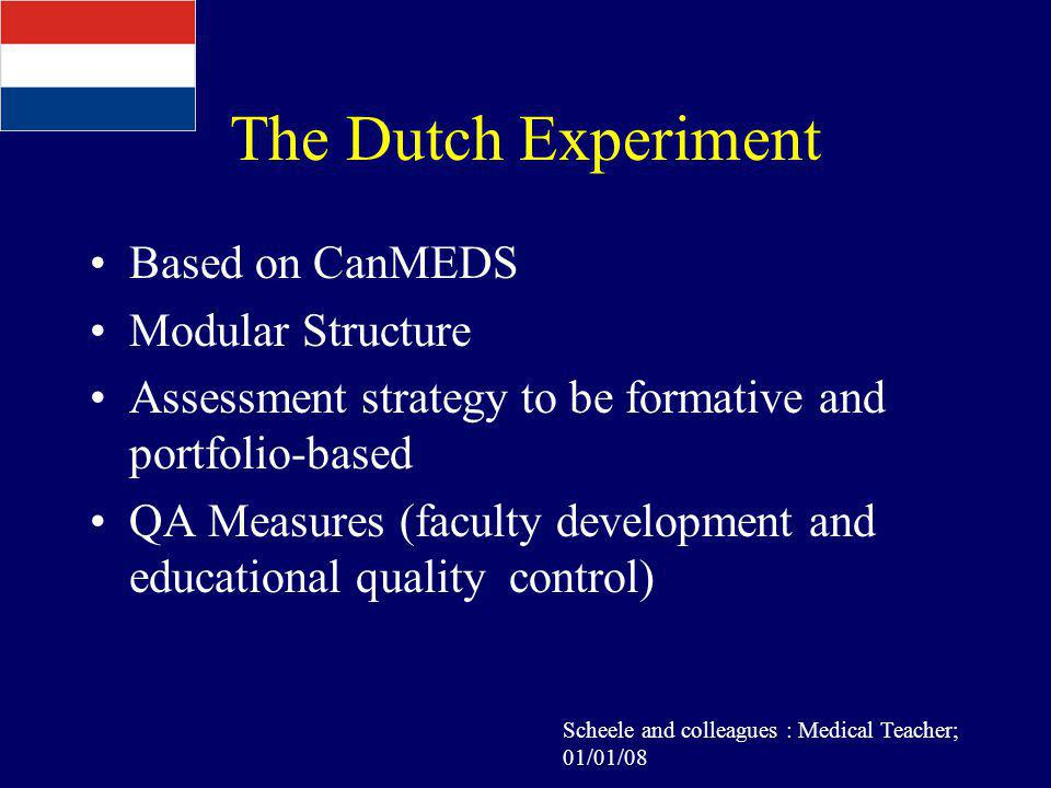 The Dutch Experiment Based on CanMEDS Modular Structure