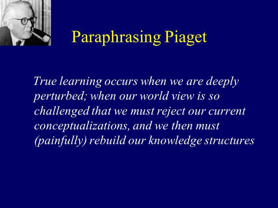Paraphrasing Piaget