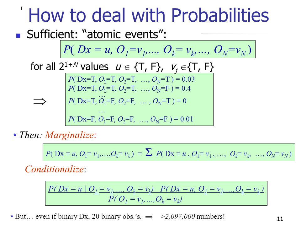 How to deal with Probabilities