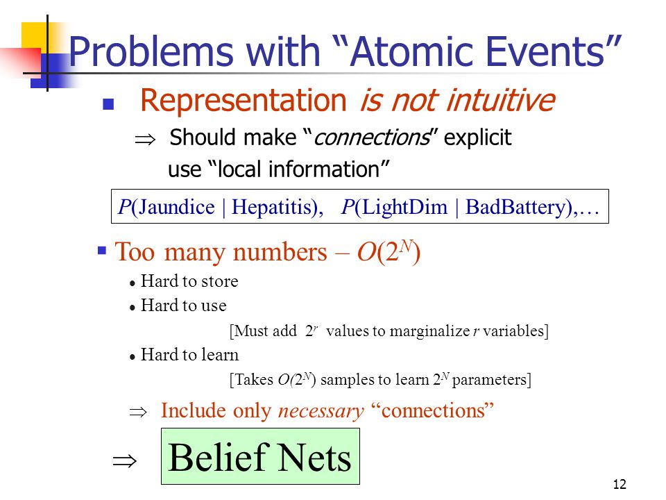 Problems with Atomic Events