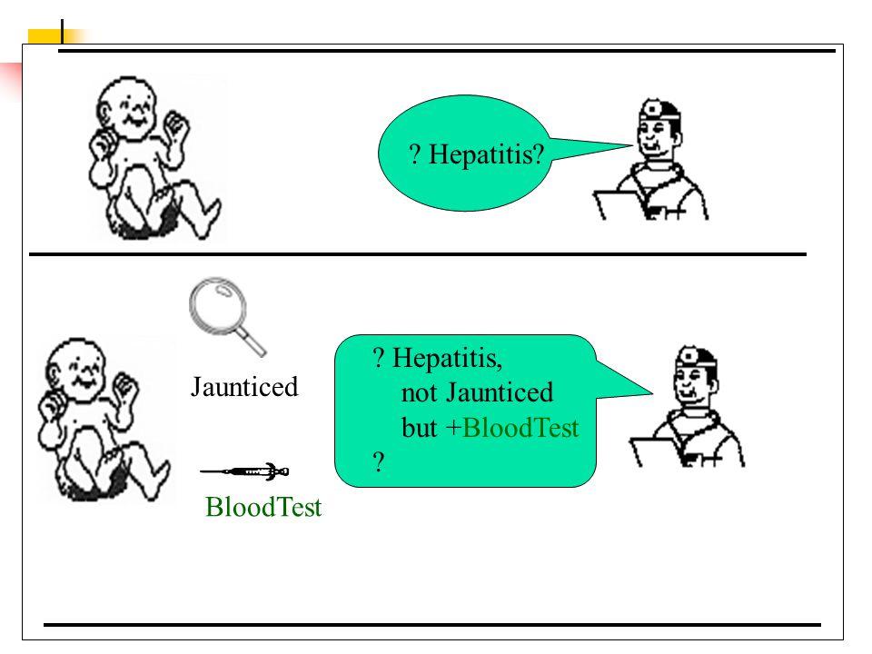 Hepatitis Hepatitis, not Jaunticed but +BloodTest Jaunticed BloodTest