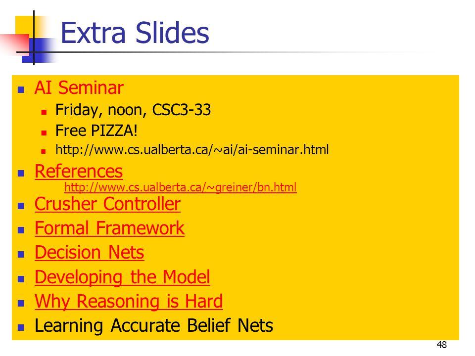 Extra Slides AI Seminar References Crusher Controller Formal Framework