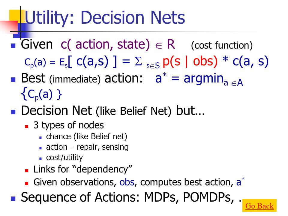 Utility: Decision Nets