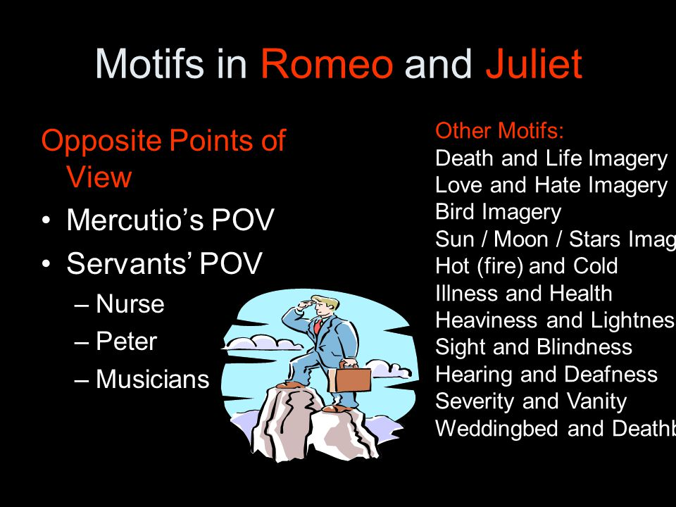 themes motifs symbols in romeo This presentation challenges students to find the juxtapositions that permeate the drama.