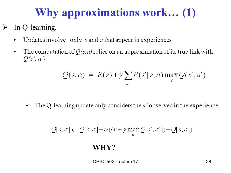 Why approximations work… (1)