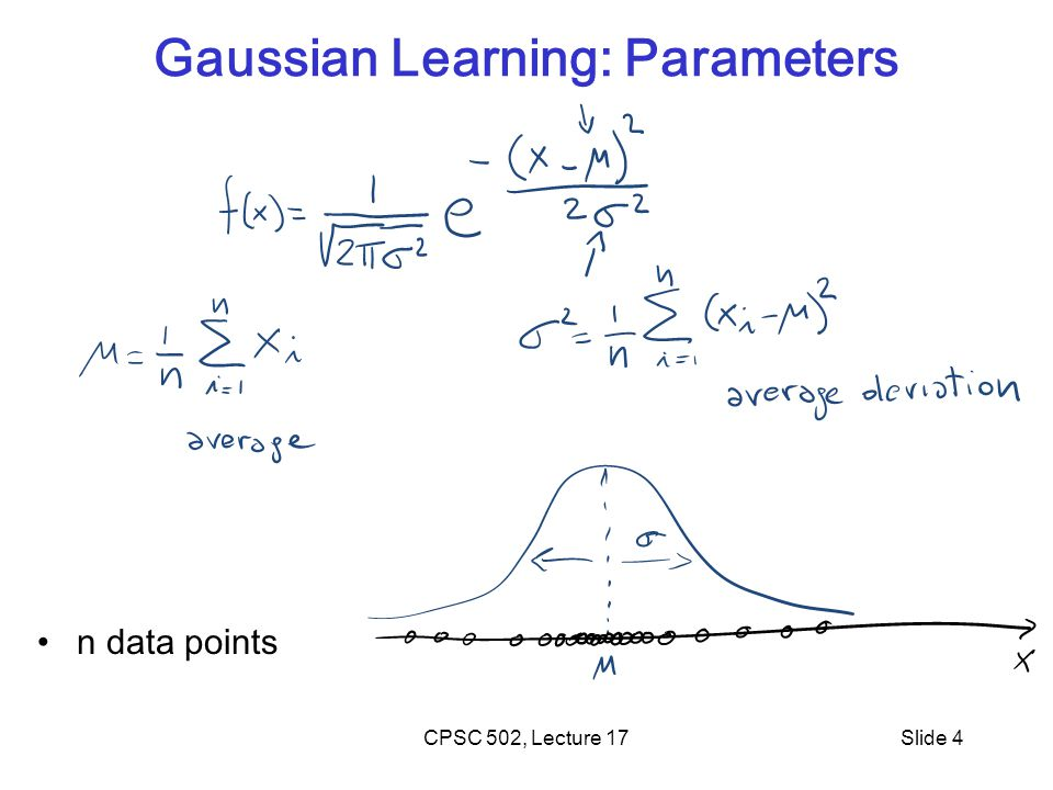 Gaussian Learning: Parameters