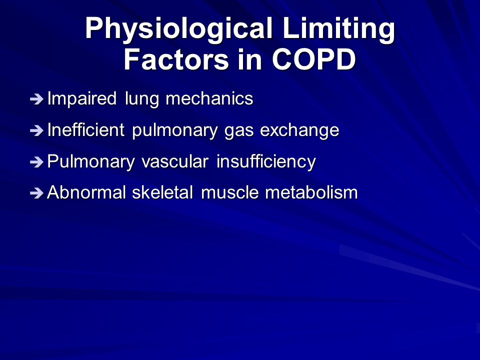 Physiological Limiting Factors in COPD
