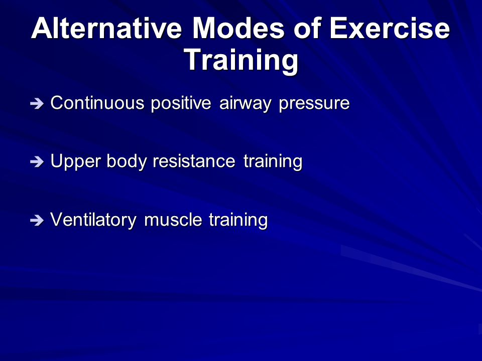 Alternative Modes of Exercise Training