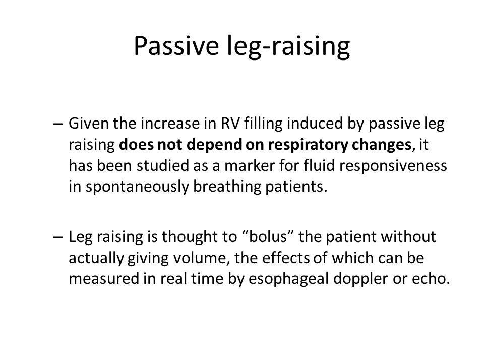 Passive leg-raising