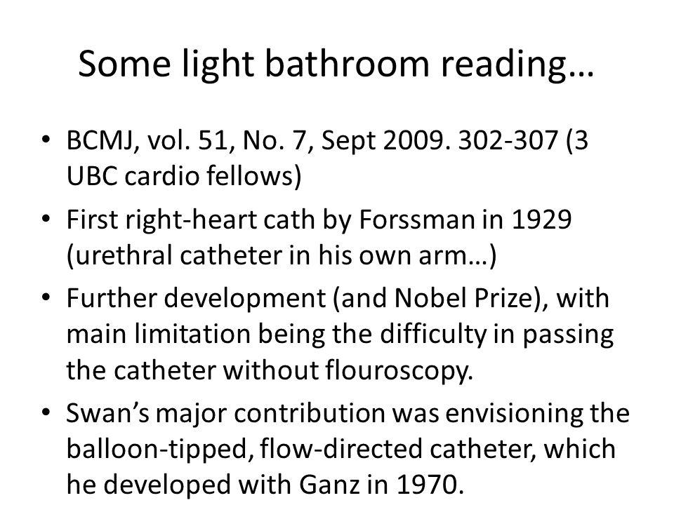 Some light bathroom reading…