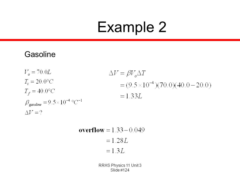 Example 2 Gasoline