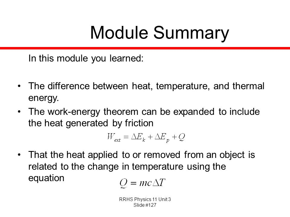 Module Summary In this module you learned: