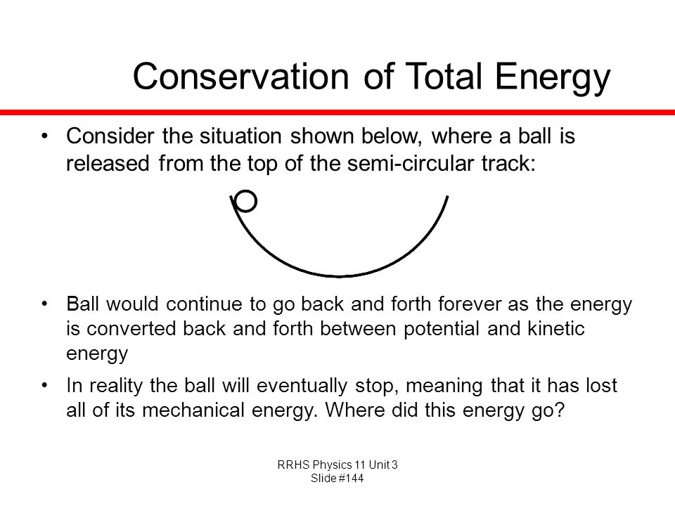 Conservation of Total Energy