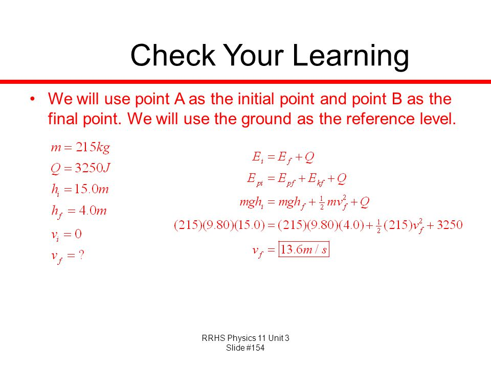Check Your Learning We will use point A as the initial point and point B as the final point.