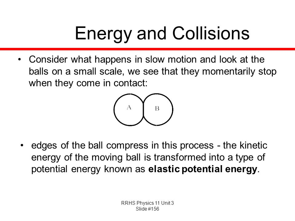 Energy and Collisions