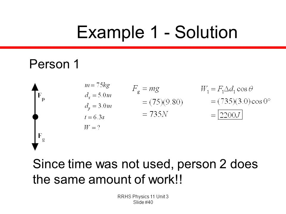 Example 1 - Solution Person 1