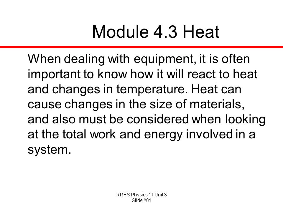 Module 4.3 Heat